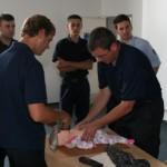 Geübt wurde auch die Reanimation bei Säuglingen ©H. Jahn