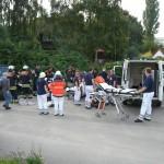 Am Behandlungsplatz wurden die Patienten versorgt und für den Transport stabilisiert. ©L. Rieck