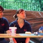 Das Catering-Team: Ihr wisst ja, ohne Mampf kein Kampf