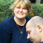 Birgit, eine der vielen fleißigen Helfer am Set
