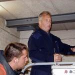 Im Maschinenraum des Fahrstuhls wird die Wirkungsweise der Antriebstechnik erklärt