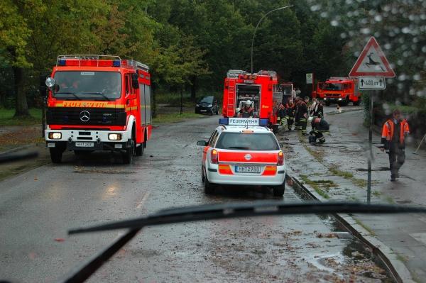 Einsatz der FF Meiendorf in der Kielkoppelstraße. Foto F2915