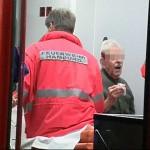Ein 87 jähriger Mann erlitt eine Kopfplatzwunde