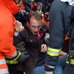 Eine männliche Person wurde gerettet und an den Rettungsdienst übergeben