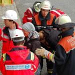 Übergabe an den Rettungsdienst