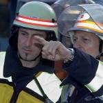 A-Dienst Ulrich Körner bei der Lagebesprechung mit B-Dienst Ingo Sobania