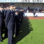 Die anwesenden Führungskräfte der 87 Freiwilligen Feuerwehren Hamburgs