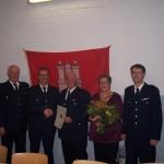 Von links: WF Heino Goes, BERF-Vierlande Torsten Altenburg, Bernd Kahl, Regina Kahl, WF/V Bernd Rieck. ©L. Rieck