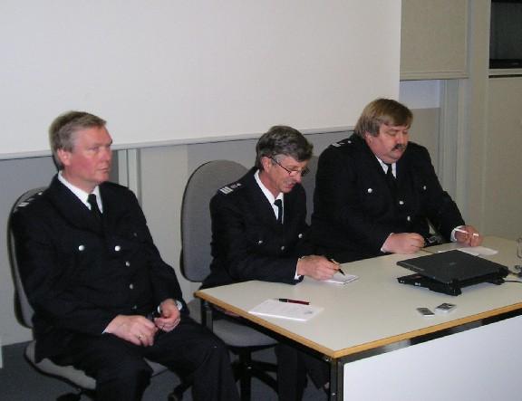Landesbereichsführer Hermann Jonas (Bild Mitte) mit seinen Vertretern Andre` Wronski (rechts) und Werner Burmester (links)  - Foto: Dieter Frommer