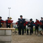Auch der Musikzug der FF Neuenfelde-Nord begleitete die Grundsteinlegung.