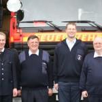 von Links: BERF Peter Röhe,WF jetzt AD Erhard Haack, WF Martin Meyer, WFV Jens Aders