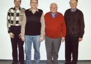 Der Vorstand (v.l.n.r.): Jens Christiansen, Mathias Molzahn, Manfred Gihl, Ernst-Heinrich Tonn (c) Dieter Frommer