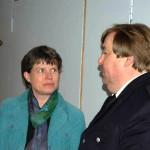 Feuerwehrpastorin Erneli Martens im Gespräch mit Andre Wronski