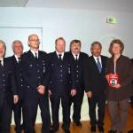Gruppenbild aller Geehrten und Ausgezeichneten mit OBD Klaus Maurer und LBF Hermann Jonas