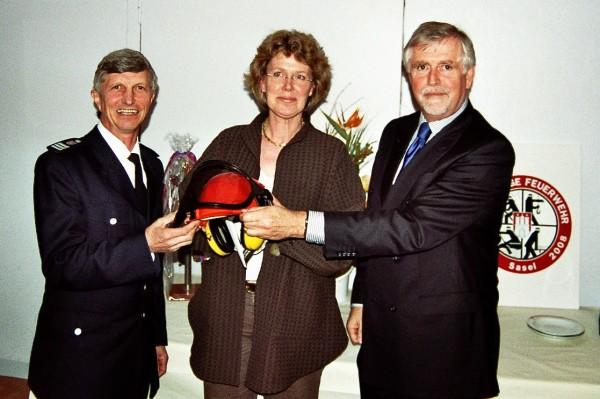 Foto: D.Frommer / Herrmann Jonas, Antonia Aschendorf und Lutz Kettenbeil (v. links n. rechts)auf der Jahreshauptversammlung