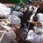 Der in Hummelsbüttel gesammelte Müll füllte den von der Stadtreinigung Hamburg gestellten Container komplett