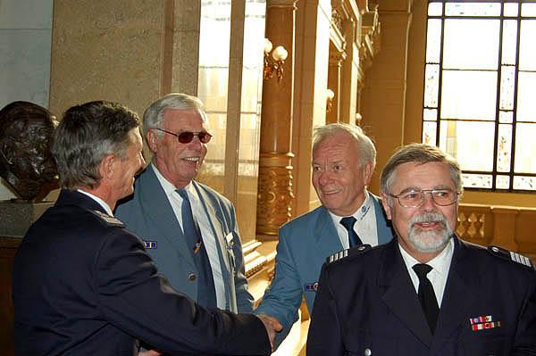 Landesbereichsführer Hermann Jonas begrüßt die Gäste