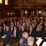 Der Große Festsaal im Rathaus war sehr gut gefüllt