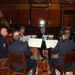 Festliche Musik durch das Klarinettenensemble des Polizeiorchesters Hamburg