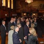Vielerlei Smalltalk nach den Ansprachen beim Senatsempfang im großen Festsaal