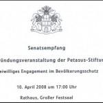 Die Einladung zum Senatsempfang