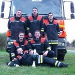 Die glücklichen Gewinner: Tobias Sandy, Nils Otte, Christian Mohn (oben v.l.), Christian Stehr, Sascha Loest (Mitte v.l.), Jörn Heitmann (liegend) ©L. Rieck