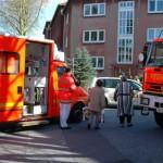 Der Rettungswagen 25B in Bereitstellung.