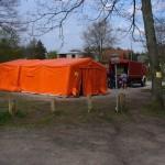Auch Duschmöglichkeiten wurden durch den Dekon-P der FF Eißendorf sichergestellt
