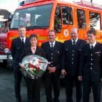 Jubilar Andreas Garbers (mitte) mit Ehefrau Michaela, Karsten Dabelstein, Sven Gerdau und Bernd Rieck ©L. Rieck