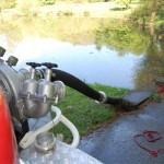 Die Wasserversorgung wurde aus einem offenen Gewässer hergestellt.