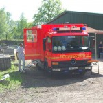 Die Freiwillige Feuerwehr Ottensen-Bahrenfeld sorgte für die Verpflegung der Einsatzkräfte.