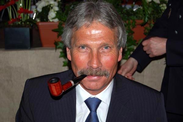Udo Nagel mit der für ihn typischen Pfeife