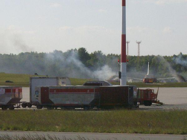 Eine Explosion zeigte den Übungsbeginn an