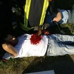 Äußerst realistisch geschminkt und schauspielerisch gut auf ihre Rolle vorbereitet stellten Helfer die Verletzten dar.