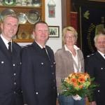BERF Karsten Dabelstein, Dirk Achterberg mit Frau Andrea, Wehrführer Hermann Wallschläger ©F 2952