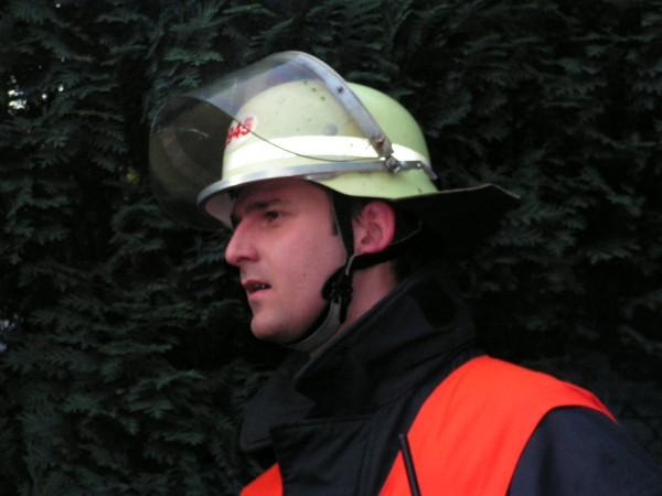 Gruppenführer Thomas Peglau bei der Erkundung.