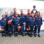 Gruppenfoto mit einigen Mitgliedern der JF Bergstedt