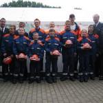 Gruppenfoto mit den Jugendfeuerwehrwarten, WF, LBF und Landesjungendfeuerwehrwart