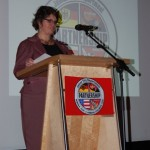 Grußworte der Konsulin für Politik und Wirtschaft Genevieve Libonati des US-Generalkonsulats auf der Abschiedsfeier.