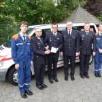 Der Förderverein übergibt der Jugendfeuerwehr Blankenese den Jugendfeuerwehrbus