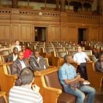 Im Plenarsaal der Hamburgischen Bürgerschaft