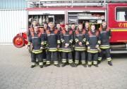 Die neu ausgebildeten Truppführer nach der erfolgreich absolvierten Prüfung (Foto: Martin Kruse - F2928).