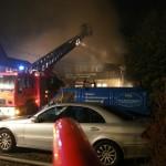 Brandbekämpfung über Drehleiter