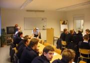 Lehrgangsleiter WF Andreas Hesse bei der Begrüßung zum Prüfungstag.