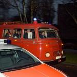 Mit einem 40 Jahre alten Löschfahrzeug wurde Peter Zuhause abgeholt.