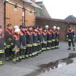 ...und begrüßten ihn am ältesten Feuerwehrhaus Hamburgs. ©F-2956