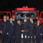 """Als Zeichen der Verbundenheit wurde das """"halbe Löschfahrzeug"""" offiziell im August im Rahmen der offiziellen Abschiedsfeier der Deutschland-Begegnung an die Feuerwehr Mineola übergeben. In New York sol"""