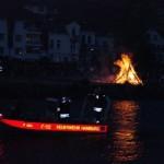 Kleinboot FF Rissen auf Sicherungsfahrt  Copyright elbebilder.de