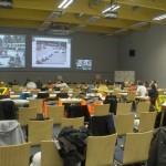 Live-Bilder für die an der Übung unbeteiligten Lehrgangsteilnehmer durch die AG MuK der FF Hamburg in das Medienzentrum des IfN