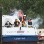 Im Maschinenraum sollte ein Feuer ausgebrochen sein. ©FF Neuengamme